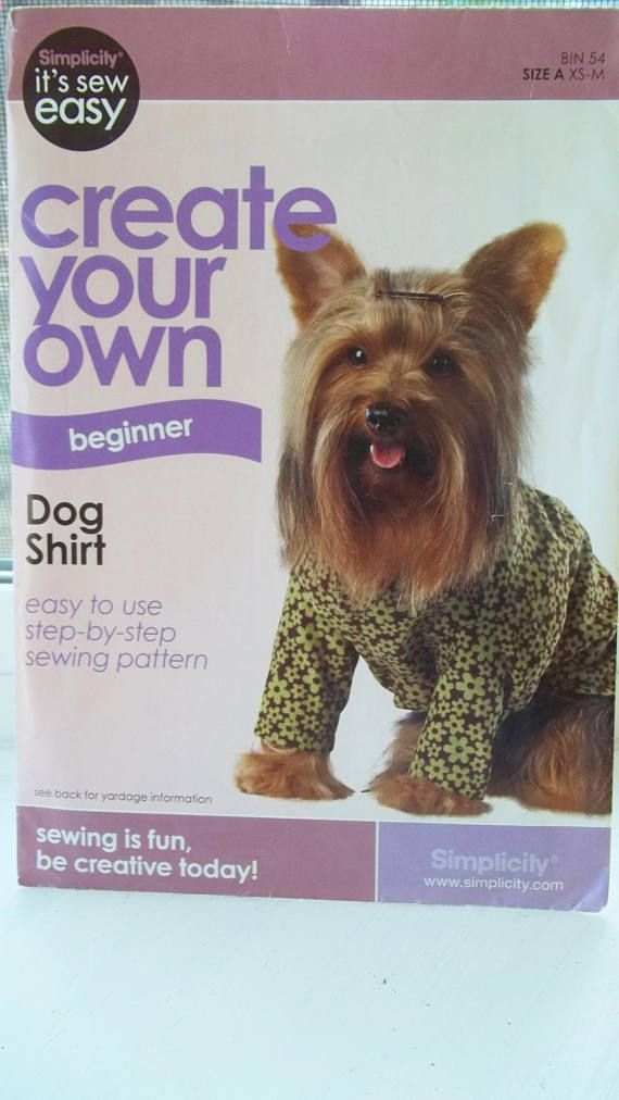 Easy Dog Shirt Pattern Simplicity It\'s Sew Easy Create Your Own ...