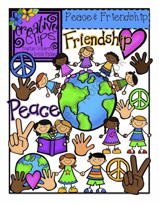 peace and friendship creative clips digital clipart product from rh pinterest com Teacher Christmas Clip Art Teacher Clip Art Black and White