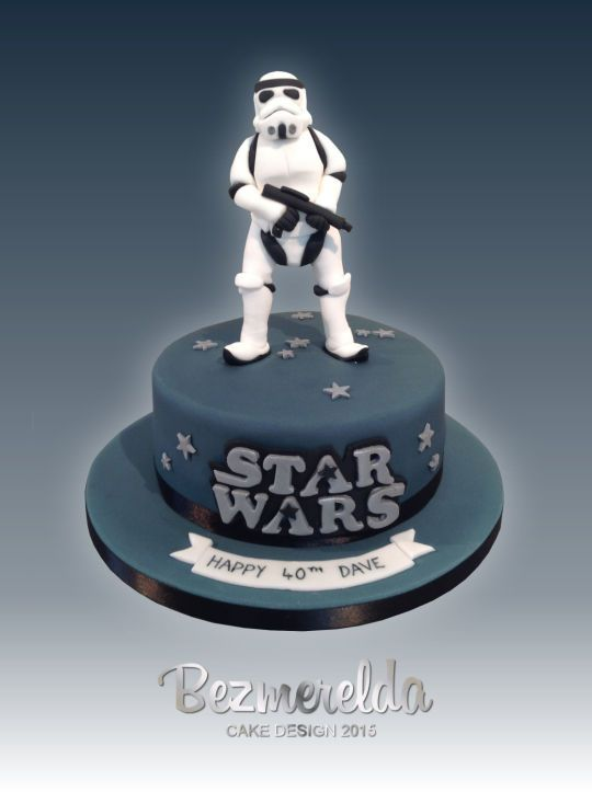 Groovy Star Wars Stormtrooper Cake With Images Star Wars Stormtrooper Personalised Birthday Cards Paralily Jamesorg