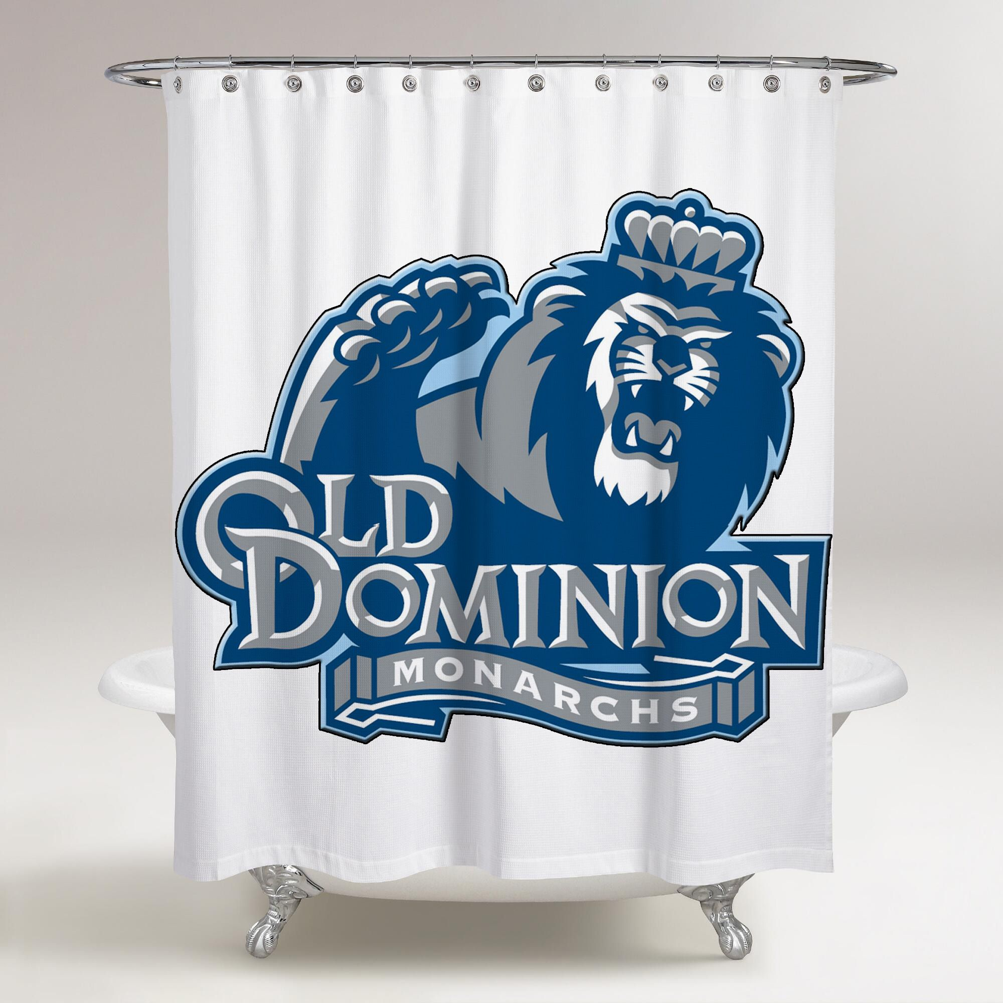 Old Dominion Monarchs Logo Printed Shower Curtain Bathroom Decor Price Free Shipping Fleeceblanket Bathroom Shower Curtains Shower Curtain Old Dominion