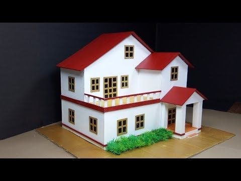 How To Make A Beautiful Cardboard Mansion House With Fairy
