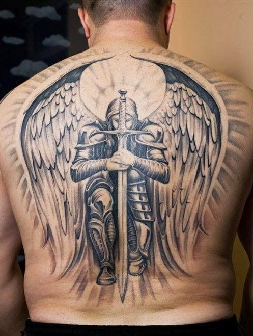 Tatuagens Masculinas Tatuagens De Anjos Arcanjo Guerreiro