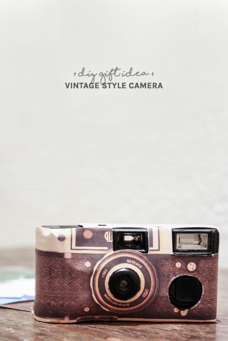DIY Vintage Geschenk selber machen: Kamera im Retro Design | DIY ...