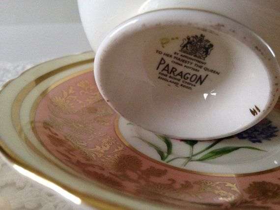 Pink Paragon China Tea Cup & Saucer Teacup by TheEclecticAvenue