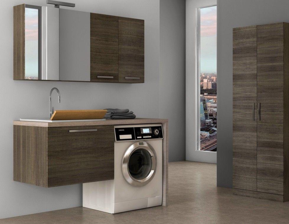 Bagno piccolo con lavatrice - Mobile lavabo con lavatrice