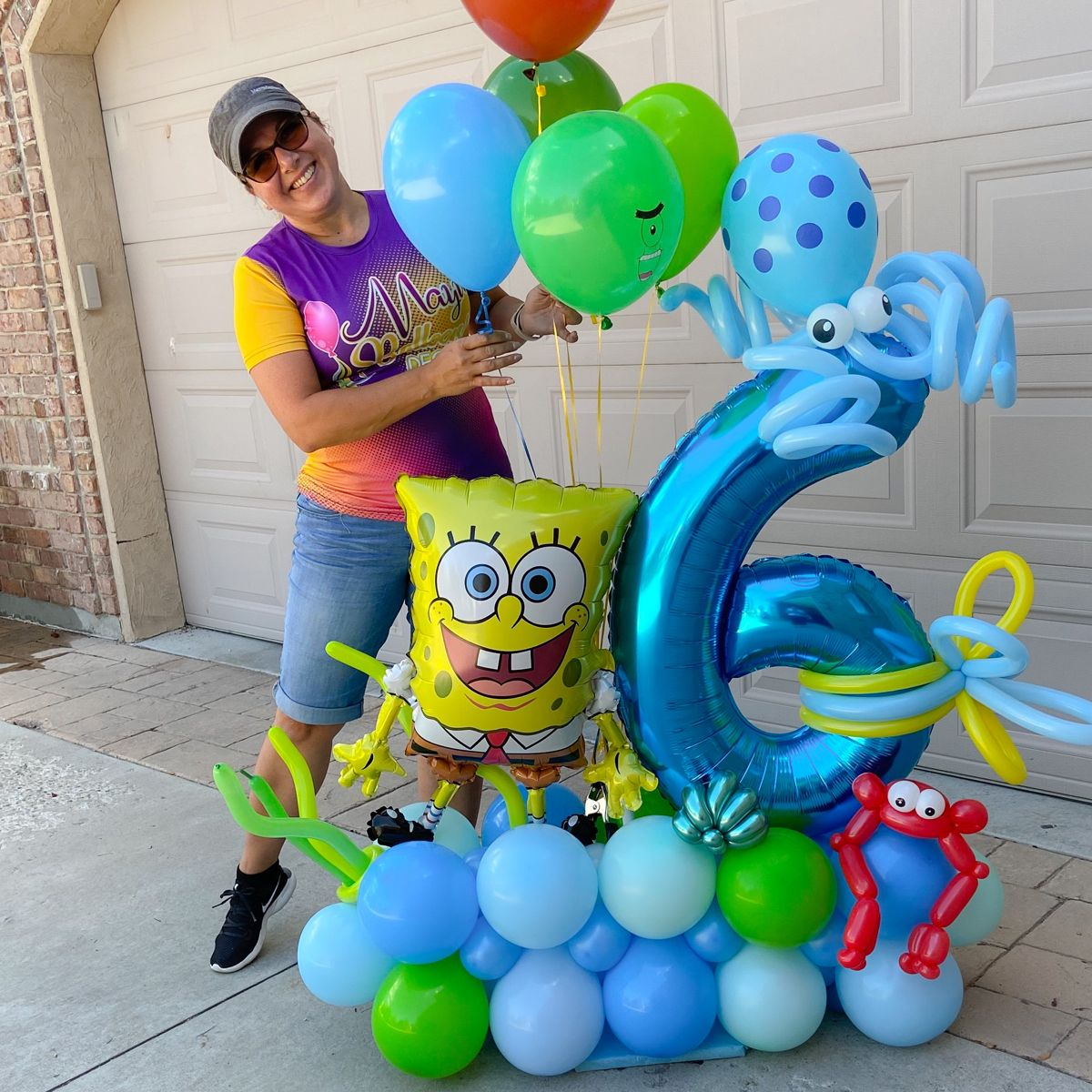 Spongebob Squarepants Birthday Balloons DIY KIT Party Supplies Balloons Spongebob Arch Balloon Party Decor Cake Table Gift Table