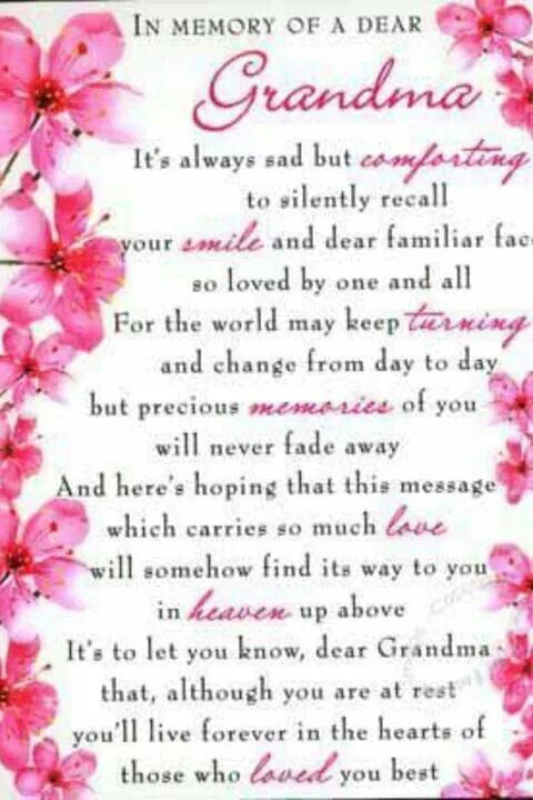 For my beloved Grandmother, on her birthday. I miss you more ...