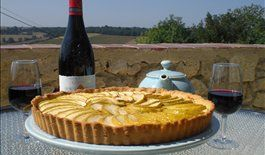 Toulouse, France -#GoLearnToCook, enjoy tarts and drink in the view