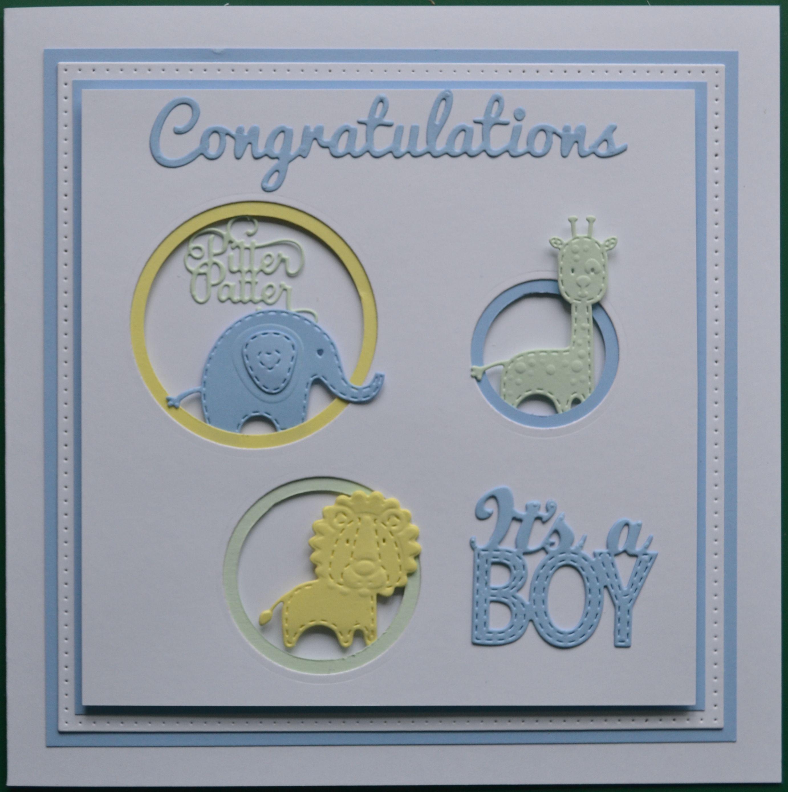 Card Making Ideas New Baby Boy Part - 16: New Baby Boy Card Using Sue Wilson Dies