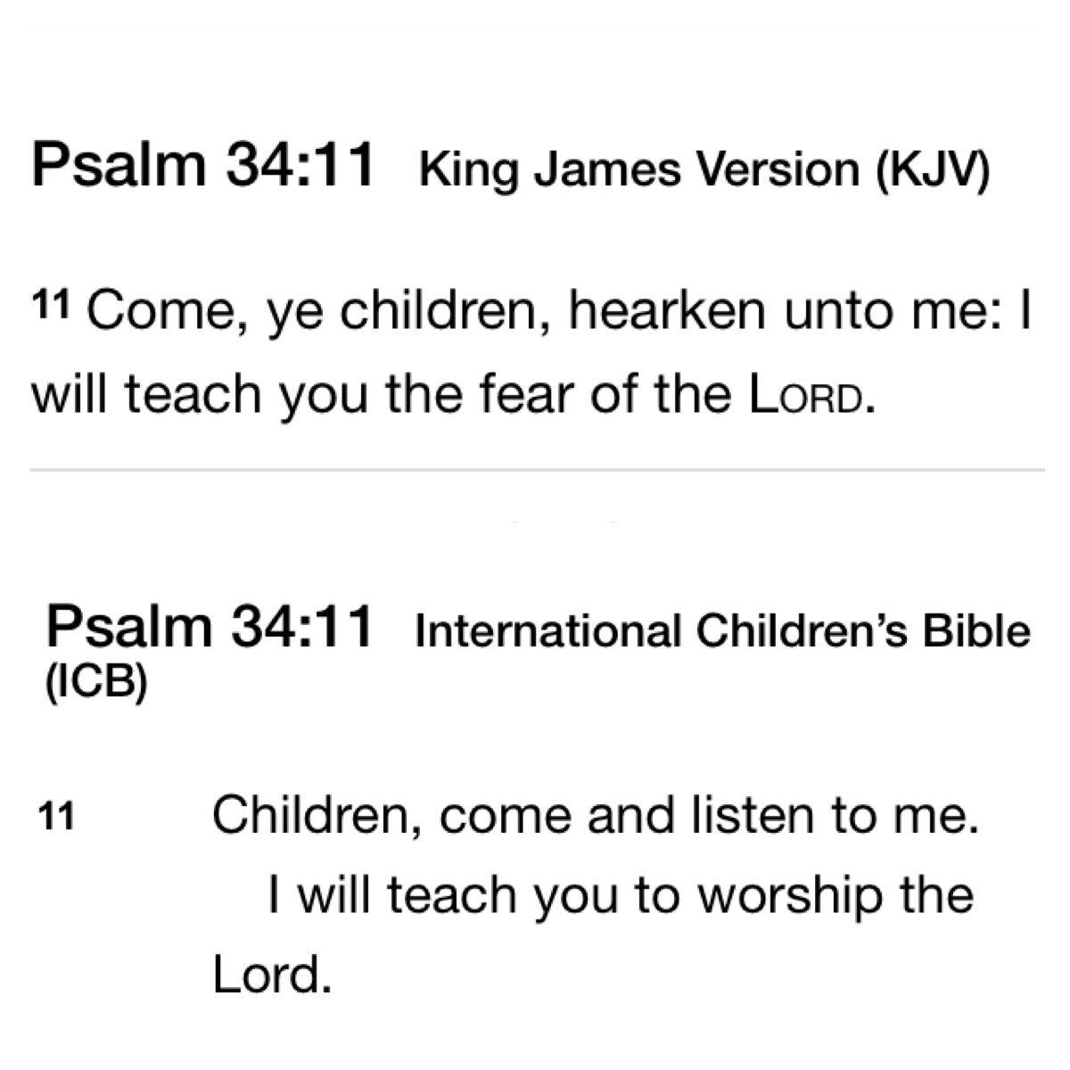**LCB** Psalm 34:11