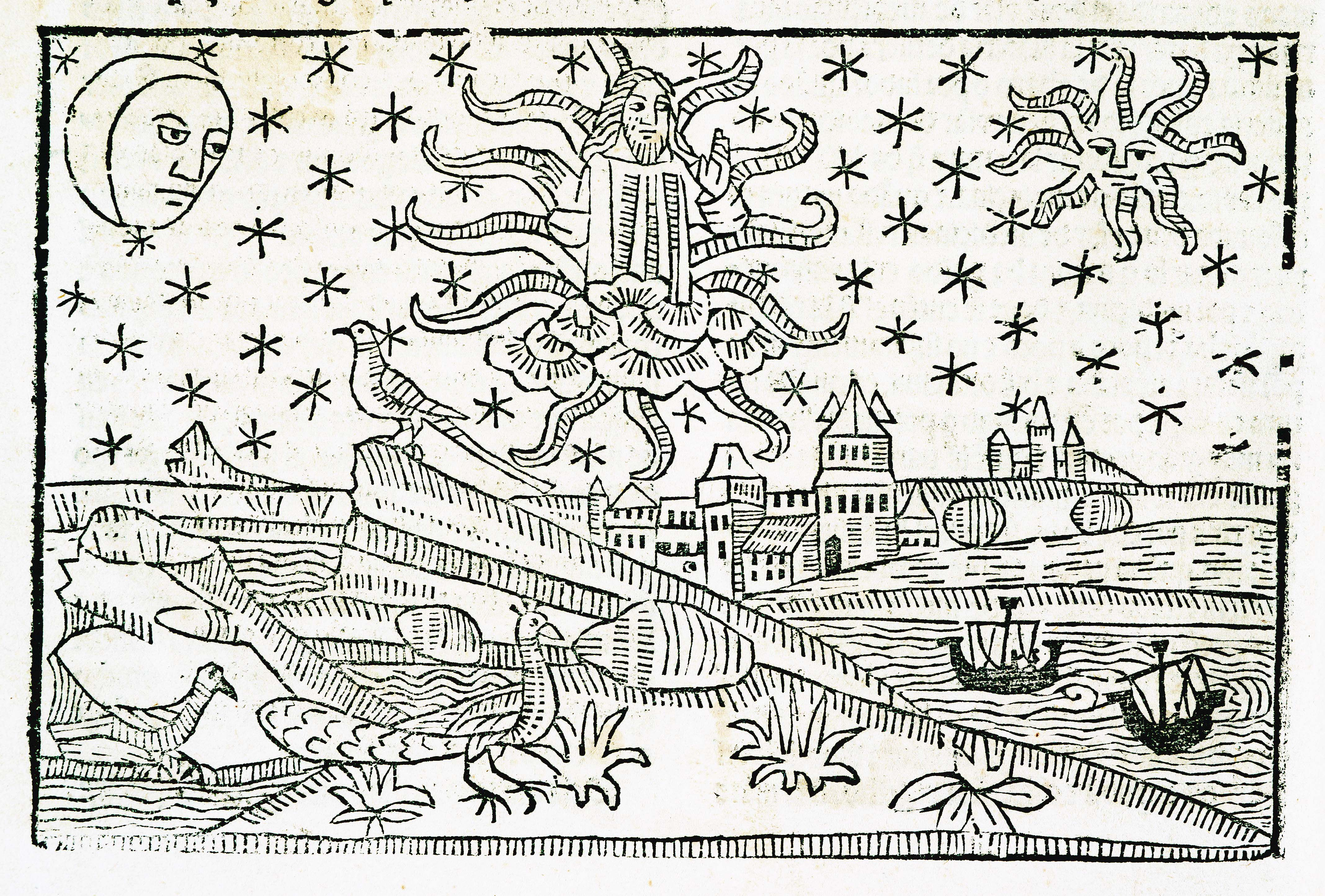 """""""Le ciel et les astres"""", Tholosa : impr. por H. Meyer, 1494  """