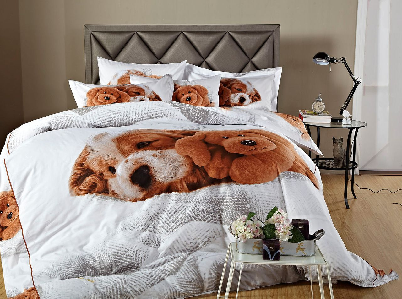 Little puppy kids dog themed bedding for girls boys twin for Dog themed bedroom ideas