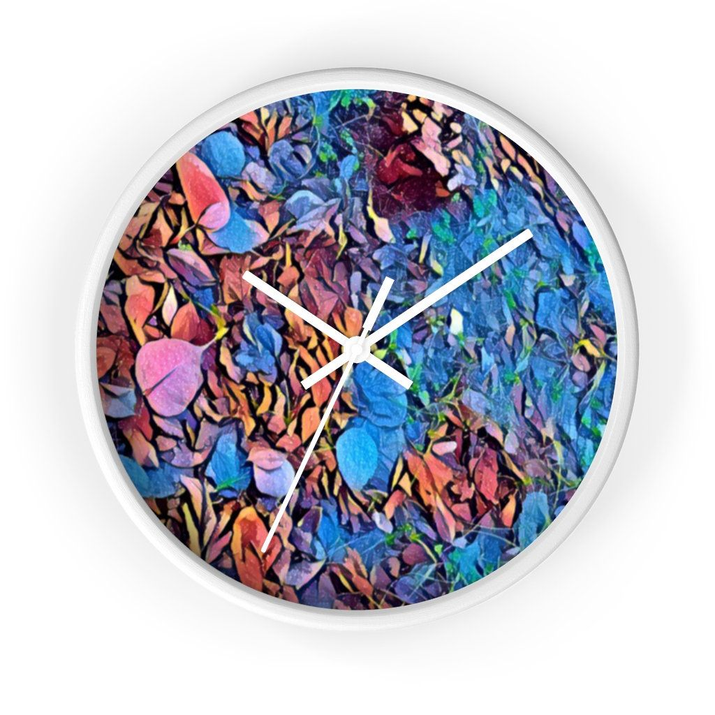 Wall Clock Designed By Nature Colorful And Unique Analog Wall Etsy Wall Clock Design Clock Design Colorful Wall Clocks