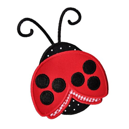 Ladybug Applique Pattern | Ladybug-Ladybug, spring, summer, embroidery, applique, design, Machine