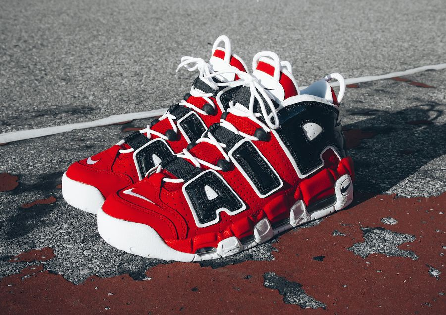 exclusive deals new collection online shop Basket Nike Air More Uptempo Red Chicago Bulls (5 ...