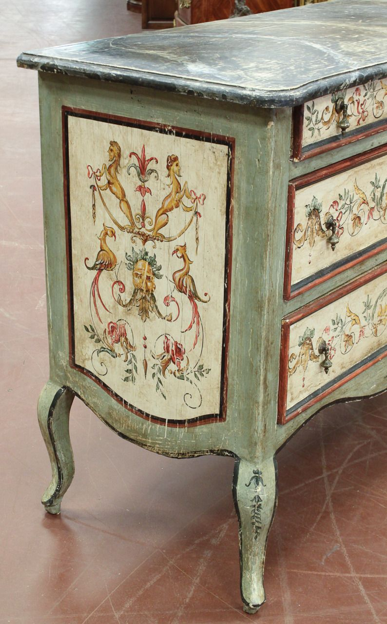 fine italian venetian painted commode in 2019 le sabby. Black Bedroom Furniture Sets. Home Design Ideas
