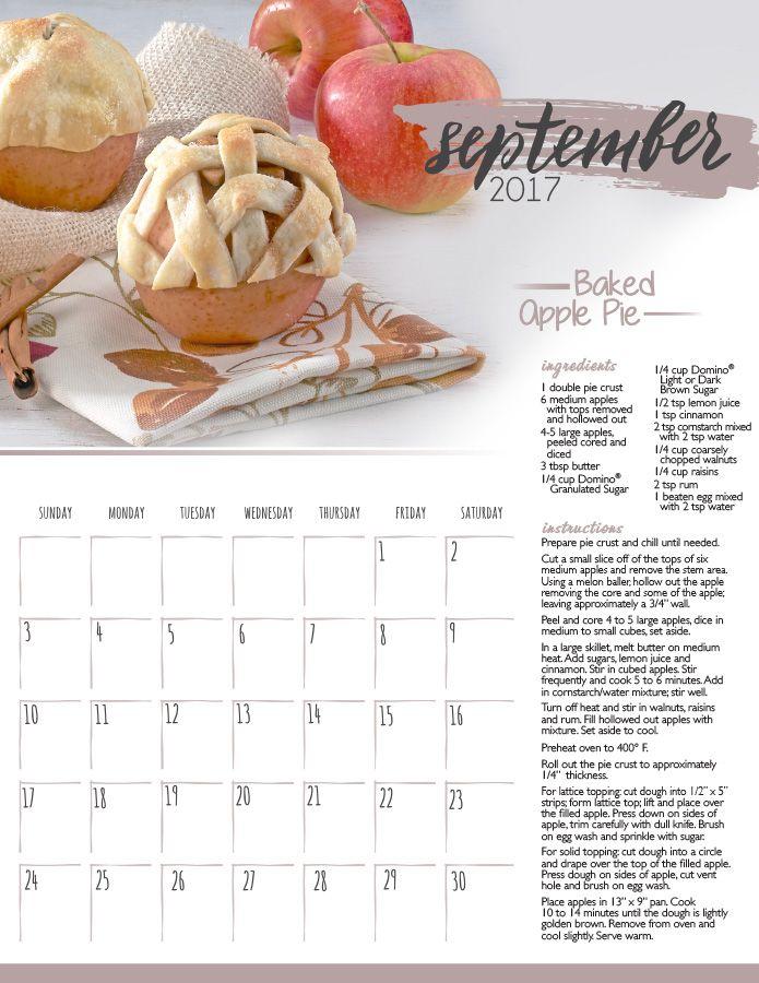 September Printable Calendar Make 2017 sweet all year long with