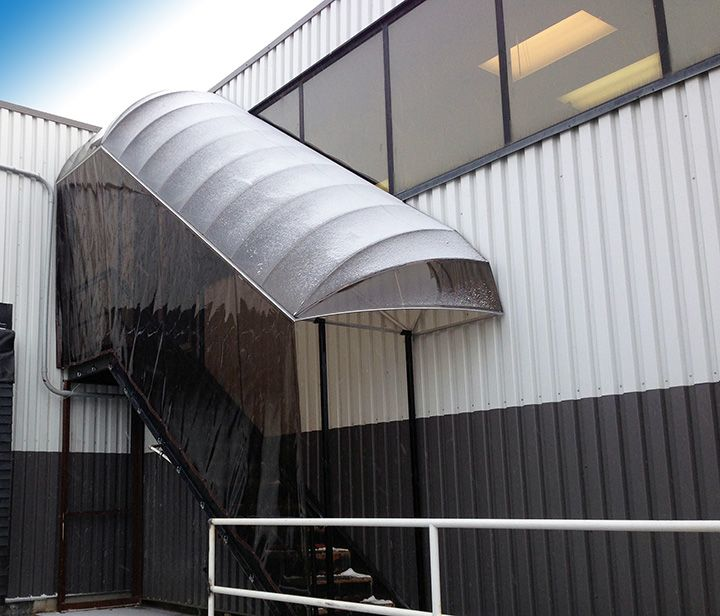 Best Stairs Canopy With Clear Vinyl Cover Stairs Canopy 400 x 300
