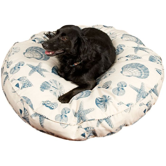Cute Shell Printed Pet Bed Shells Beach Home Dog