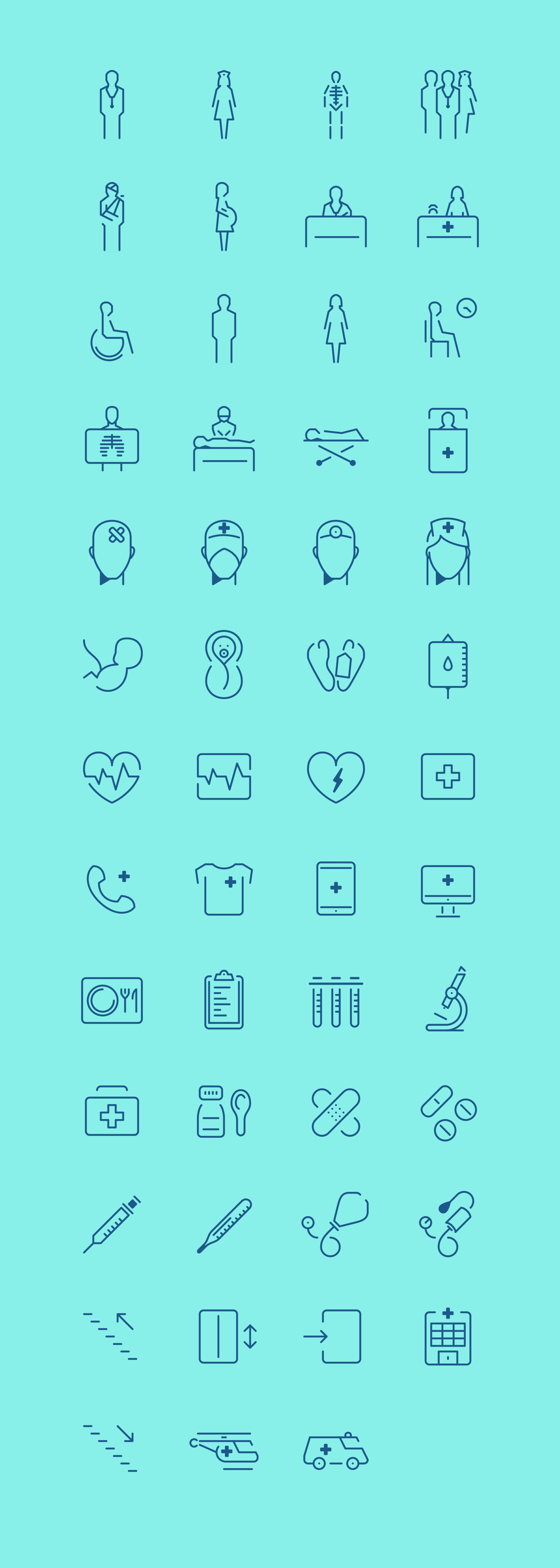 In The Hospital – Icon Set on Behance