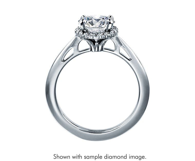 Halo Diamond Engagement Ring in 14k White Gold (1/10 ct. tw.) - Blue Nile