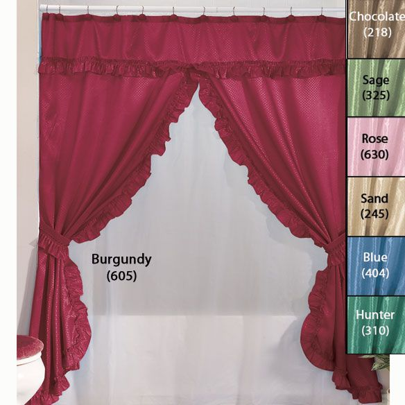 Double Swag Shower Curtains With Valance