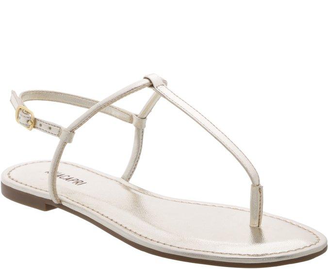 Sandália Slim Dourada | Elegante e Tamanhos