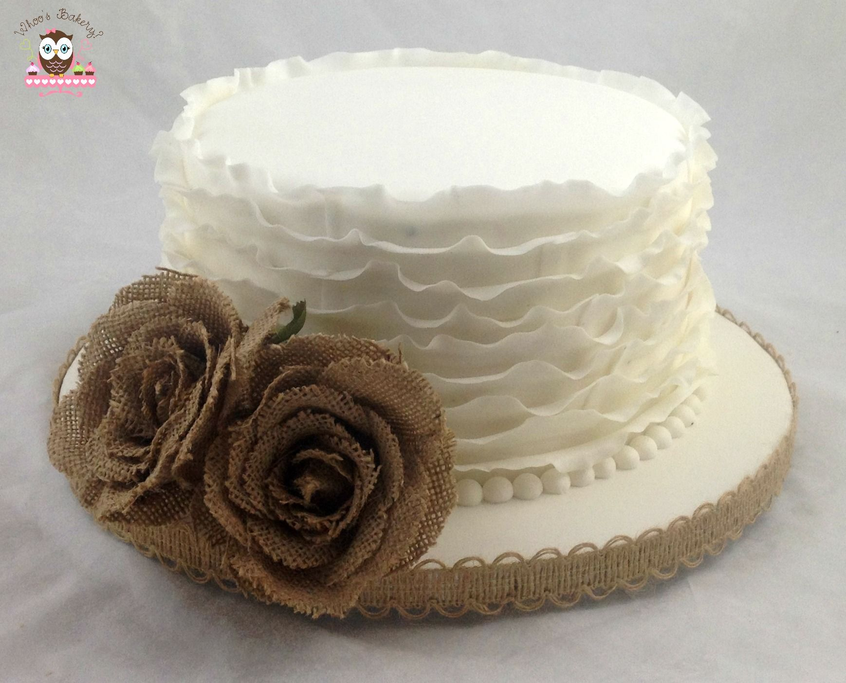 small elegant wedding cake ruffle cake burlap cake wedding cake simple 20208