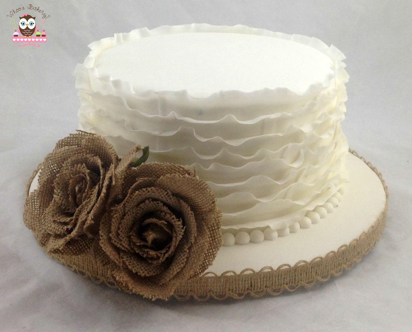 ruffle cake burlap cake elegant wedding cake simple wedding cake small wedding cake cakes. Black Bedroom Furniture Sets. Home Design Ideas