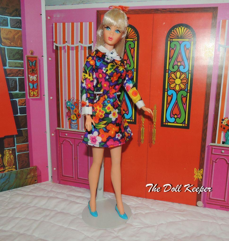 1967 Vintage MOD TNT Sunkissed Barbie in Flower Dress