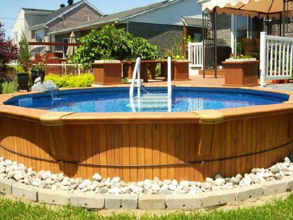 Piscine Bois Hors-Sol Korfu + Kit 20,4 m3 (3,76x7,14) Piscine hors sol - amenagement autour piscine hors sol