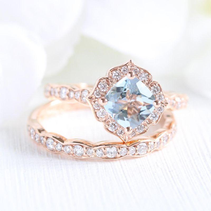 14 Vintage Inspired Flower Engagement Rings For Feminine Bridal Looks