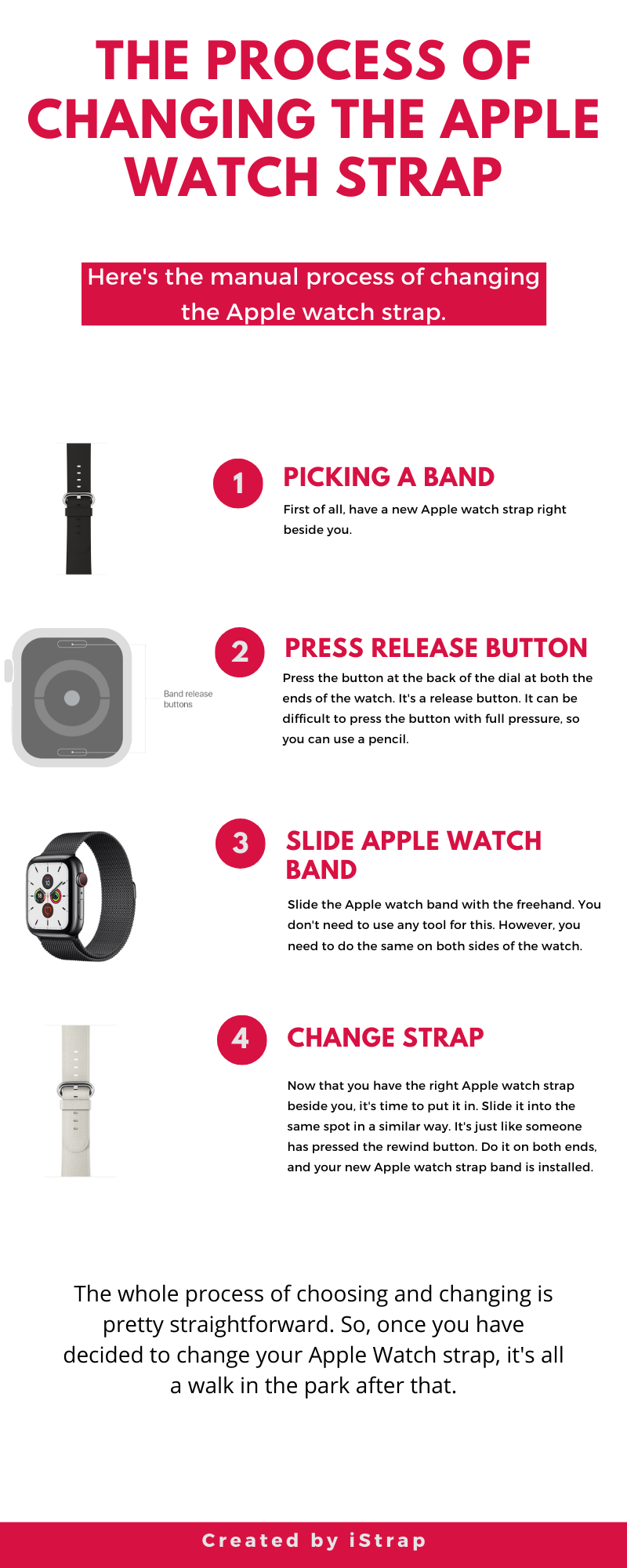 The Process Of Changing The Apple Watch Strap Apple Watch Strap Apple Sport Band Apple Watch Features