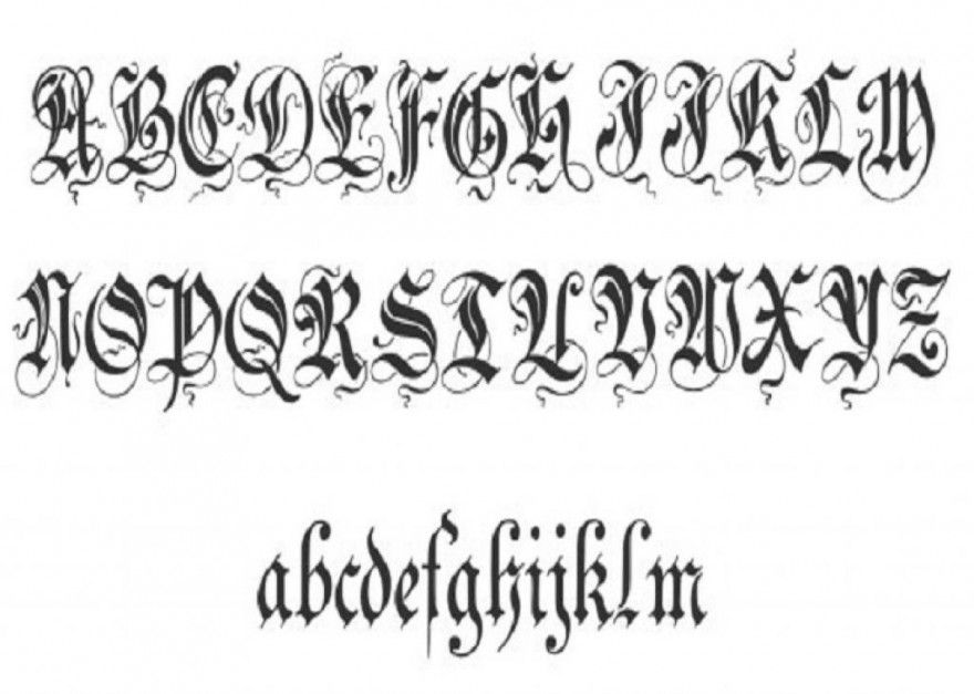 TATTOO FONTS Tattoo ideas Pinterest Abecedario, Duendes y Letras