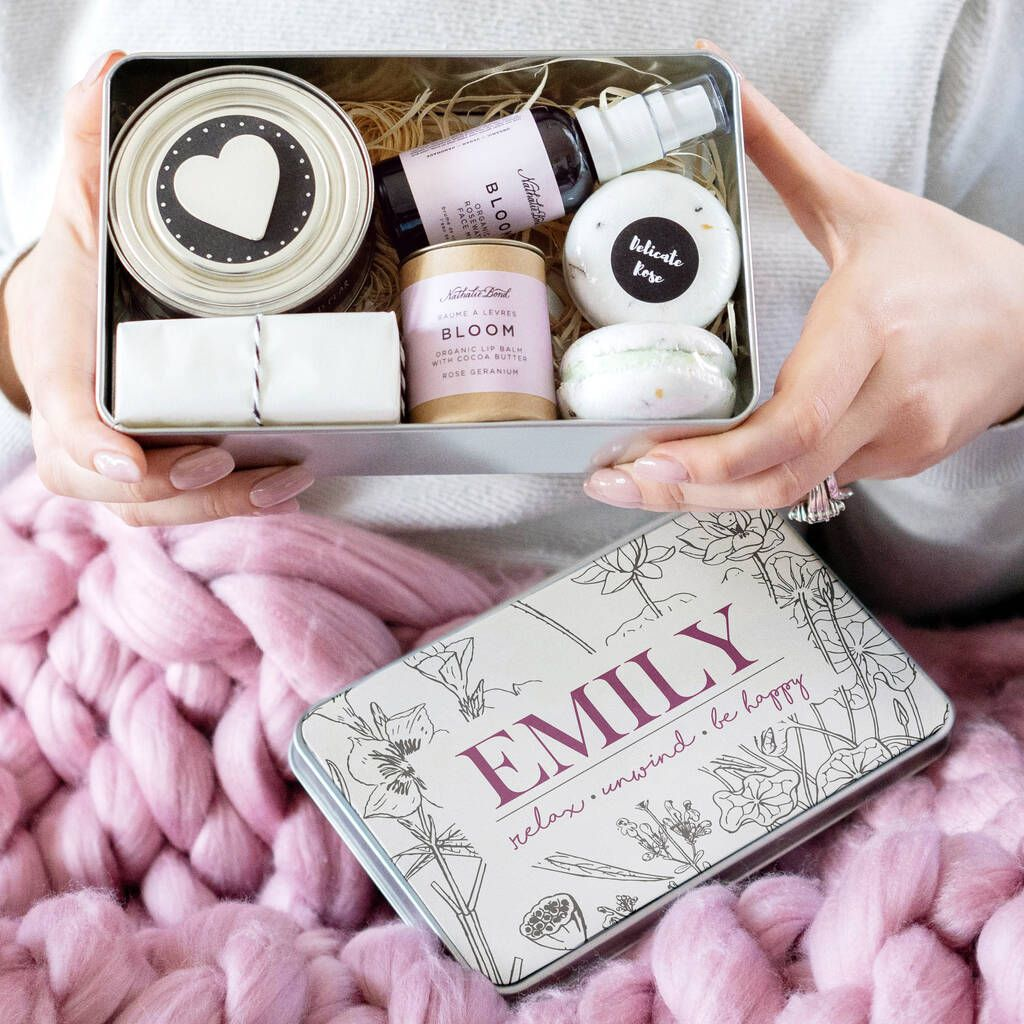 Personalised 'Be Happy' Deluxe Spa Pamper Kit in 2020