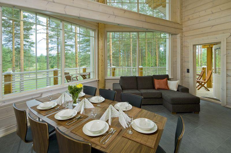 Interieur d\'une maison en bois d\'Ikihirsi fabriquée en Finlande – 6 ...