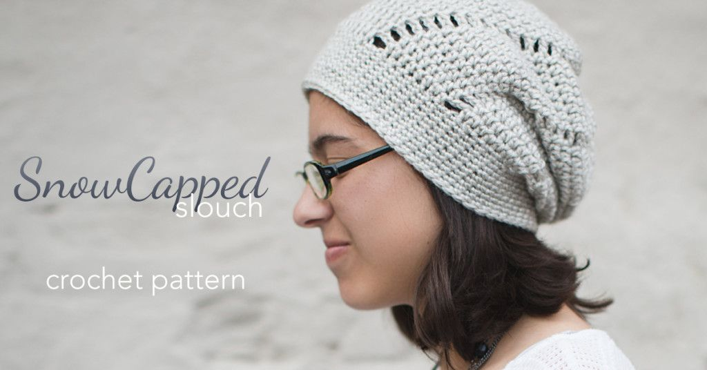 The Snow Capped Slouch Hat (Free Crochet Pattern) | crochet hats ...