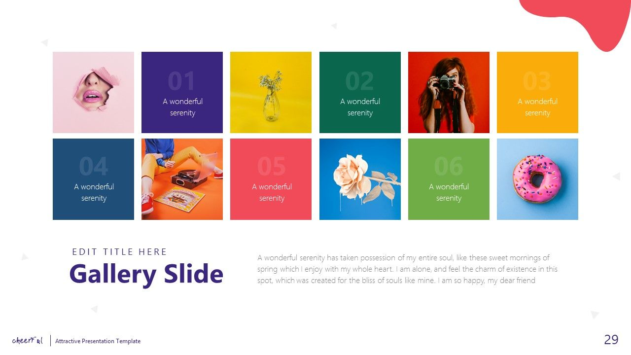 Cheerful Attractive Powerpoint Template Attractive