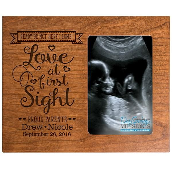 Personalized New Baby Ultrasound Photo Frame - Love at First Sight ...