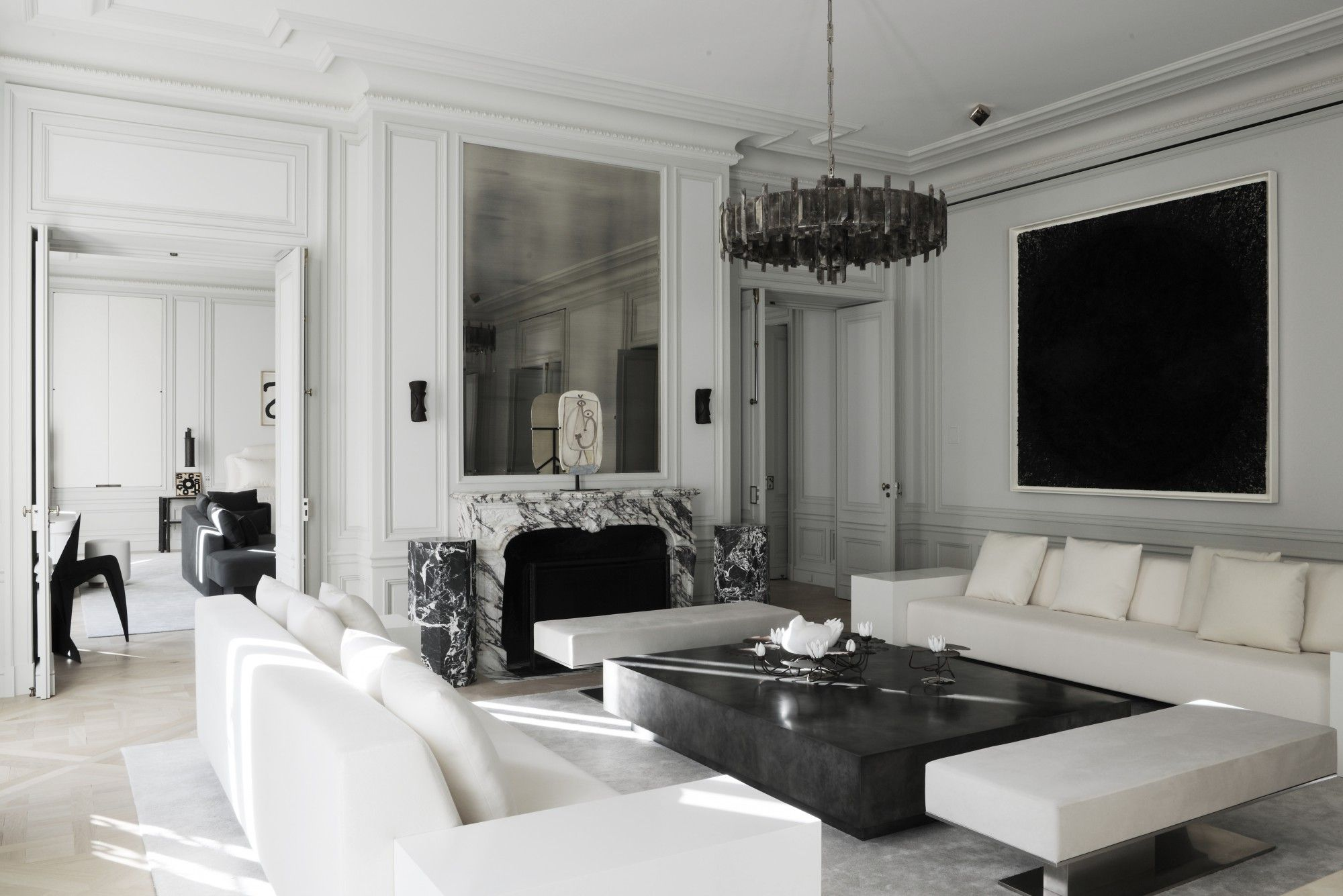 joseph dirand architecture montaigne salons luxueux on beautiful modern black white living room inspired id=66442