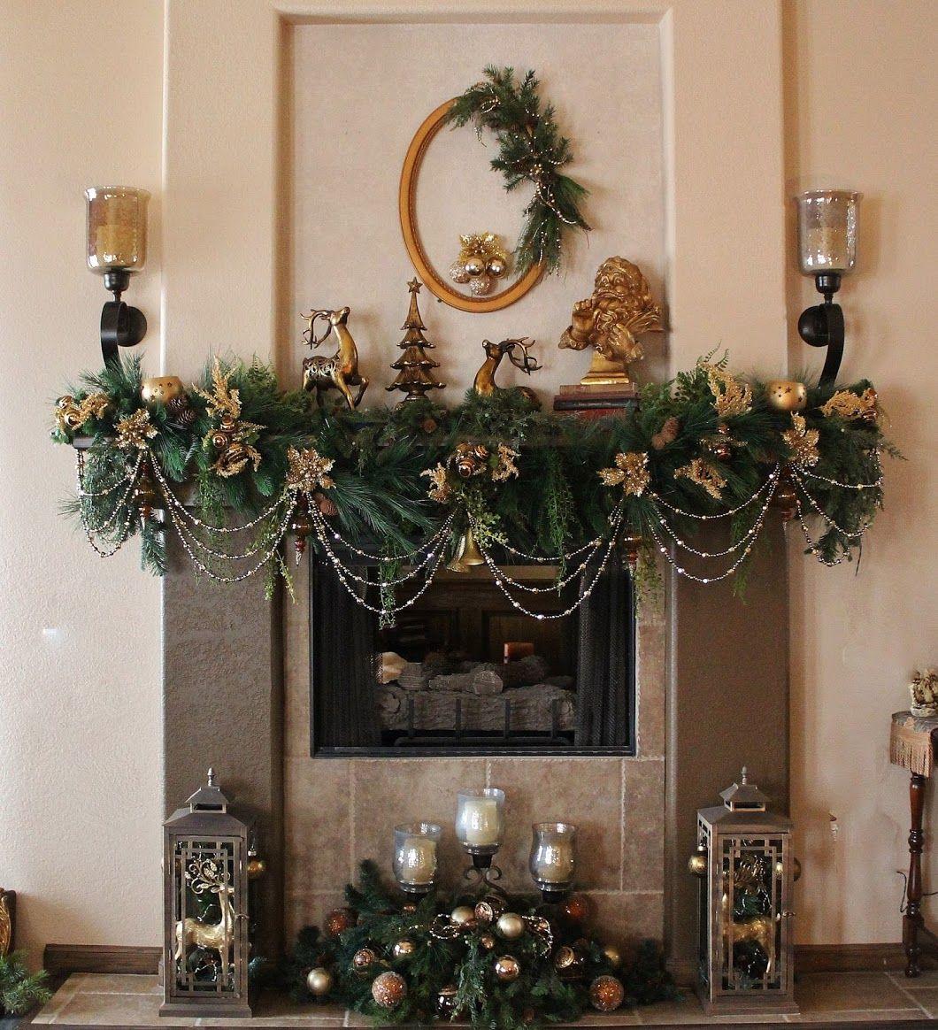 Elegant Christmas mantel | Frazadas | Pinterest | Elegant ...