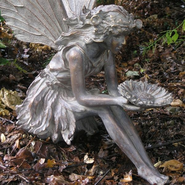 Resin Garden Statue Large Sitting Fairy Sculptures Large Garden Ornaments Garden Fairies Figurines Fairy Garden Ornaments