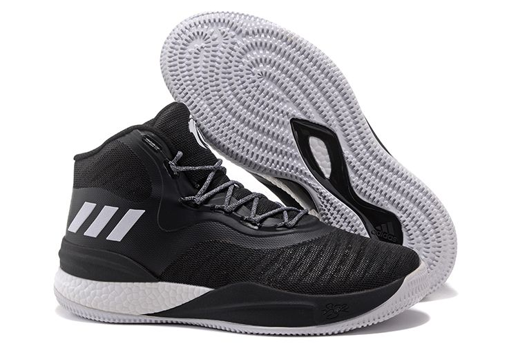 82c8a41a62e2 2018 adidas D Rose 8 Black White Men s Basketball Shoes Free Shipping
