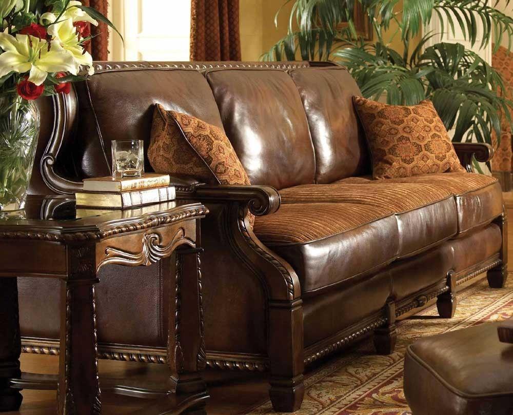 Aico Windsor Court Wood Trim Sofa Livingroom Decor Livingroom