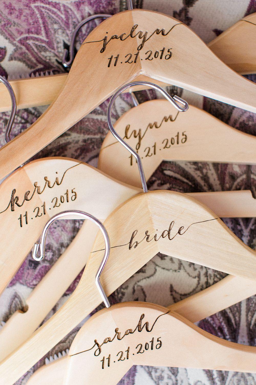 Custom Bridal Party Hangers by Z Create Design www.ZCreateDesign.com ...
