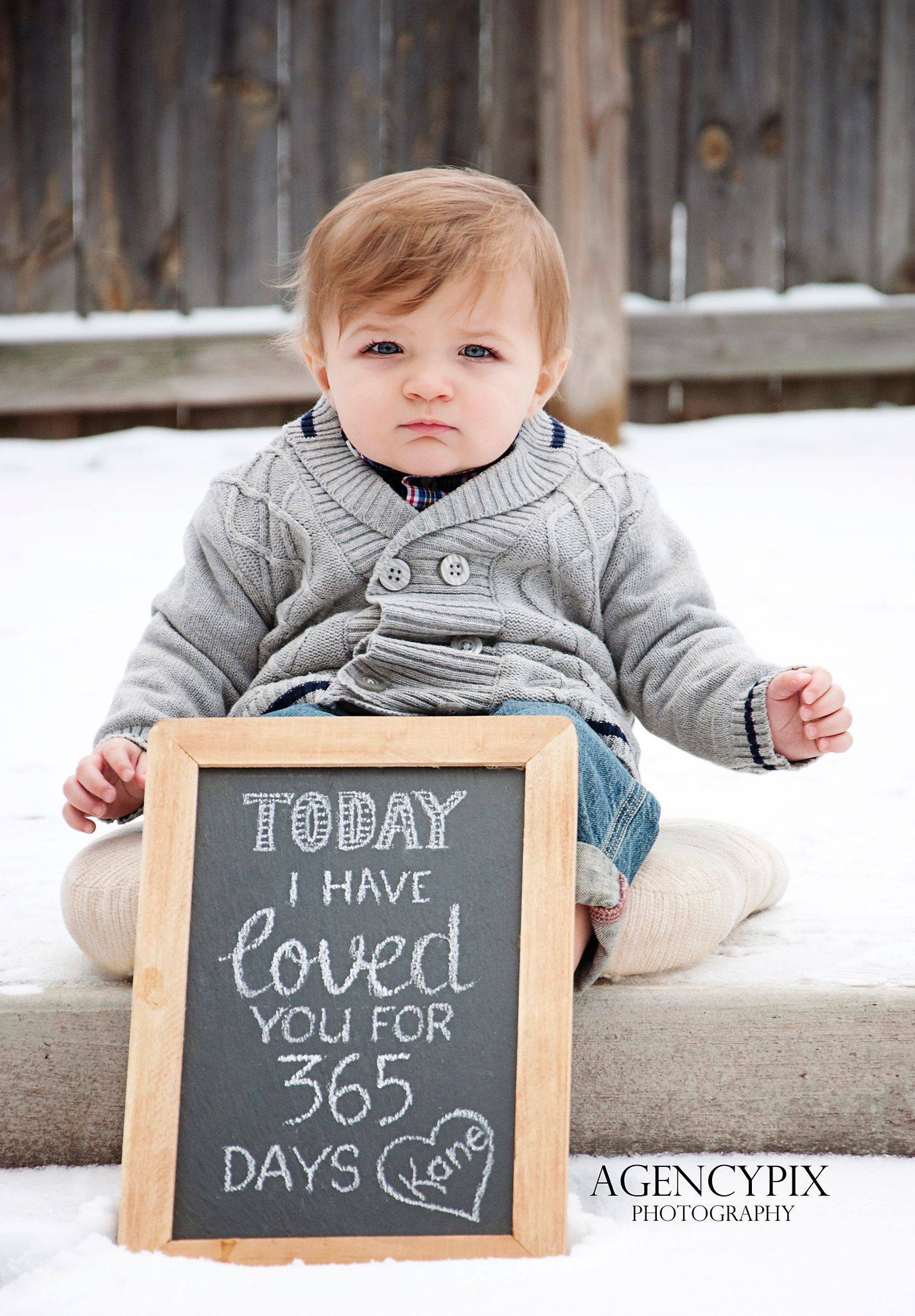 1st Birthday Pic Makes A Nice Present For Mom And Dad