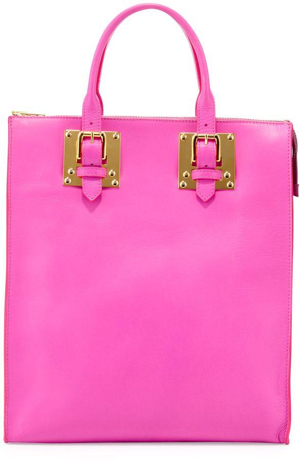 Sophie Hulme Soft Buckled Zip Tote Bag, Hot Pink on shopstyle.com