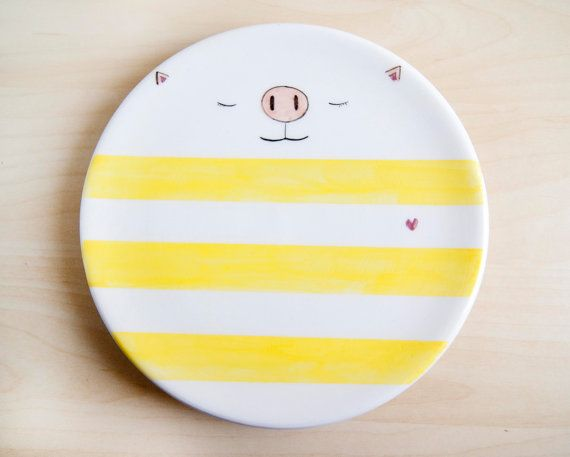 Kawaii ceramic dish Ceramic plate Trinket dish Ceramics and pottery Ceramic dishes Serving dish Decorative plates Serving plates & Kawaii ceramic dish Ceramic plate Trinket dish Ceramics and ...