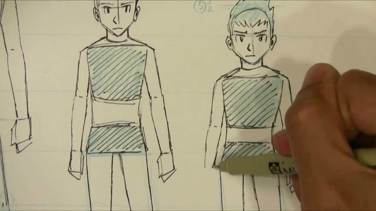 How To Draw Manga Male Body Proportions Teenager To Kid Manga Drawing Cartoon Girl Drawing Male Body