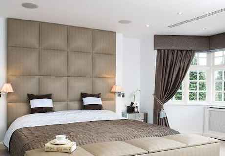 big headboards with big squares | squares a full wall version similar to  our squares design